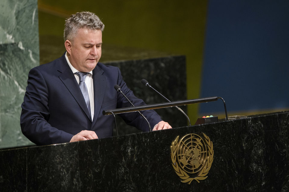 Statement by H.E. Mr. Sergiy Kyslytsya, Deputy Minister for Foreign Affairs of Ukraine, at the General Assembly plenary meeting on the report of the International Criminal Court