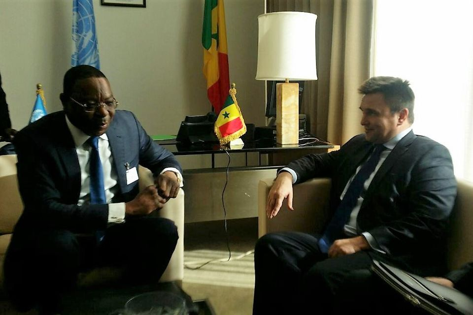 The meeting of Ministers for foreign affairs of Ukraine and Senegal in New York