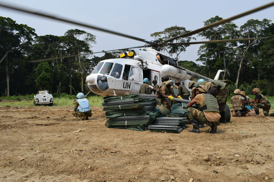 Service personnel of Ukrainian national contingent provide logistic support of the most remote bases of the United Nations Stabilization Mission in DR Congo