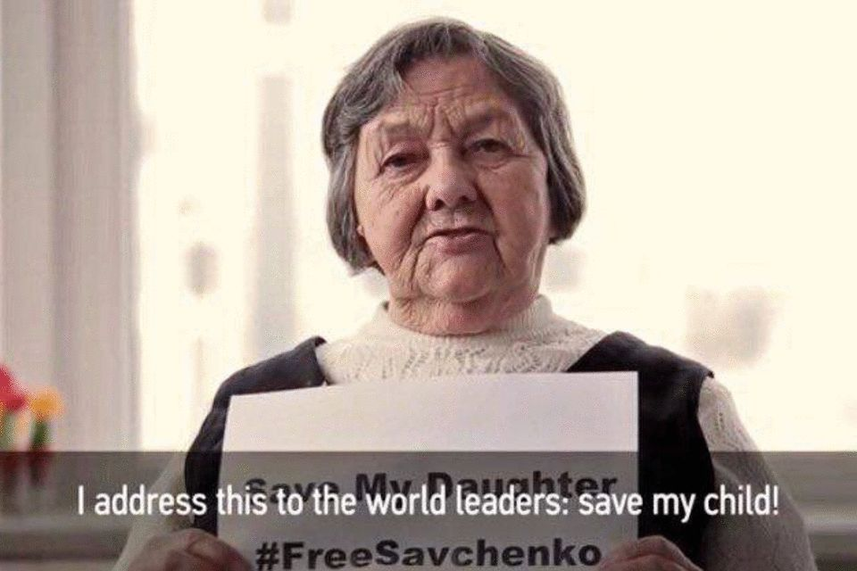 Nadiya Savchenko's Mother Appeal to the World's Leaders: Save my daughter!