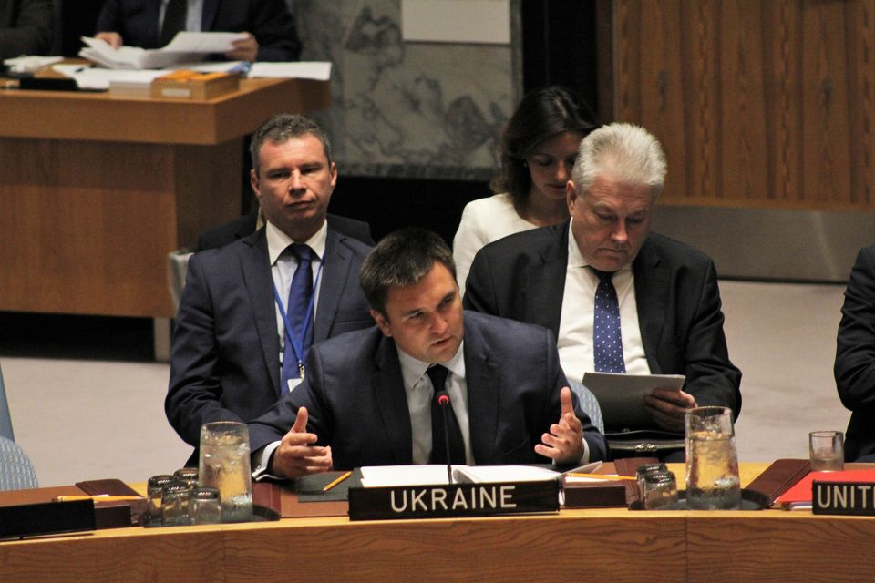 Statement by HE Mr. Pavlo Klimkin, Minister for Foreign Affairs Ukraine, at the UNSC Ministerial meeting on the Non-Proliferation of WMD