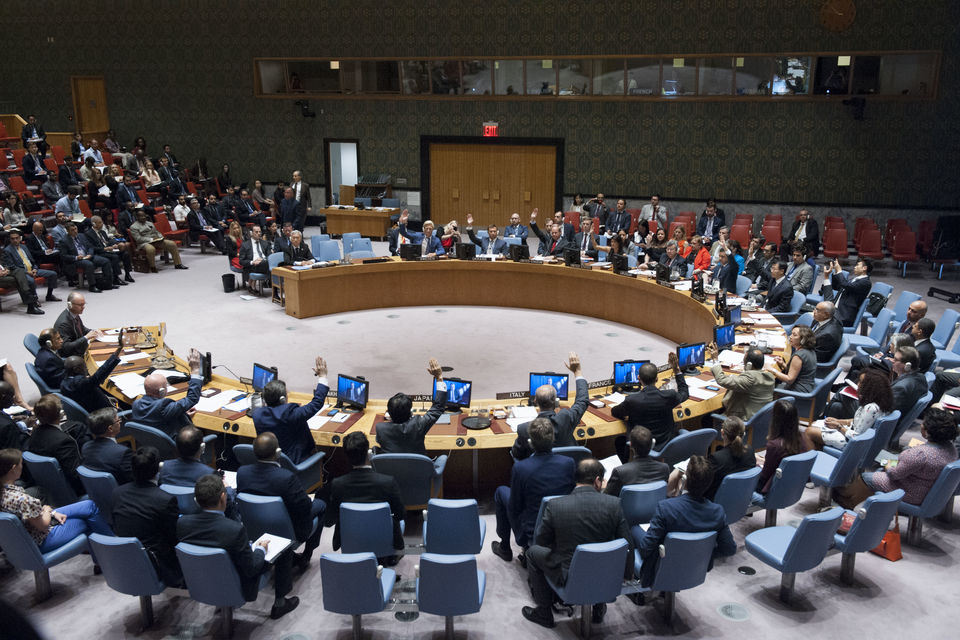 UN Security Council adopted the resolution 2370 on preventing terrorists from acquiring weapons