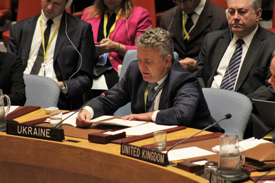 Statement by Deputy Minister for Foreign Affairs of Ukraine Mr. Sergiy Kyslytsya at the Security Council Ministerial Open Debate on Protection of Civilians and Healthcare in Armed Conflict